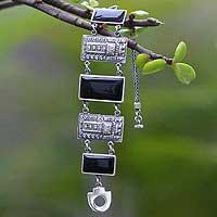Obsidian wristband bracelet,