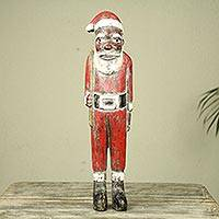 Wood Sculpture, 'Father Christmas'