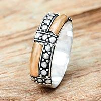 Gold accent band ring, 'Journey'