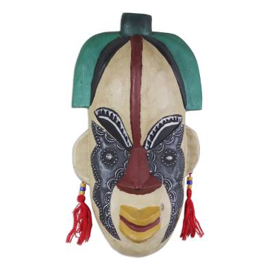 Handcrafted Congo Zaire Wood Mask