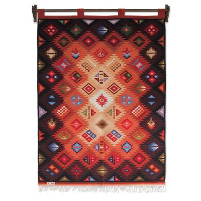 Handcrafted Wool Tapestry from Peru