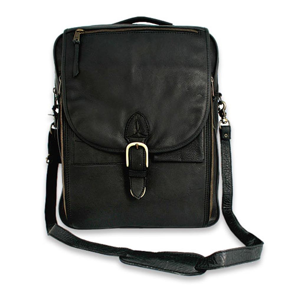 a3687408cfcb Men s Leather Messenger Bag - Out of Office in Black