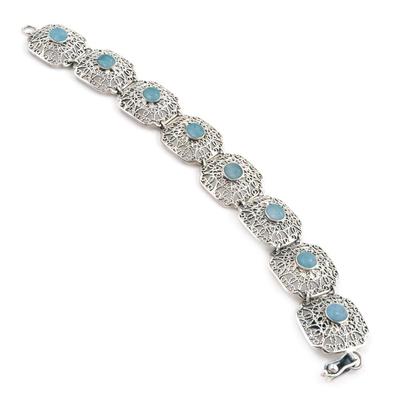 Amazonite link bracelet