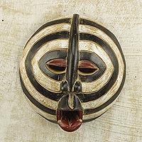 African wood mask, 'Baluba Rings'