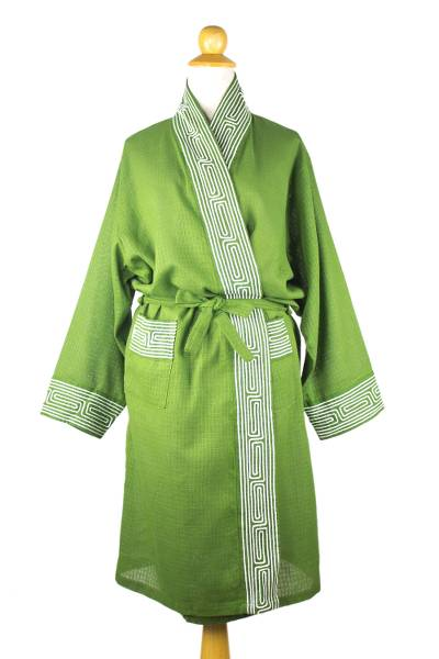 Green Cotton Robe