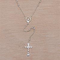 Rainbow moonstone rosary, 'Solemn Prayer'