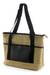 Jute shoulder bag, 'Road Trip' - Handcrafted Jute Shoulder Bag with Recycled Rubber Trim (image 2a) thumbail