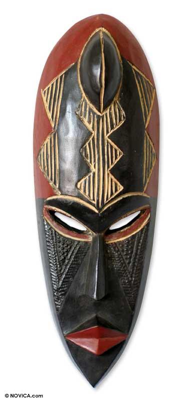 Ewe wood mask, 'Proof of Love' - Ewe wood mask