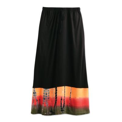 Black Bandhani Skirt