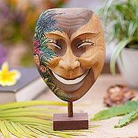 Wood mask, 'Gleeful Smile'