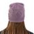 100% alpaca hat, 'Dusty Lilac Braid' - Knitted Unisex Watch Cap Dusty Lilac 100% Alpaca from Peru (image 2d) thumbail