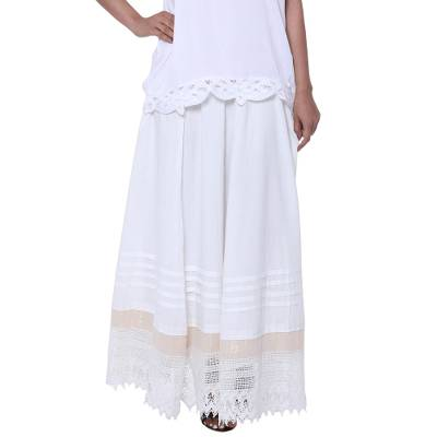 Artisan Crafted Cotton Long Skirt from India