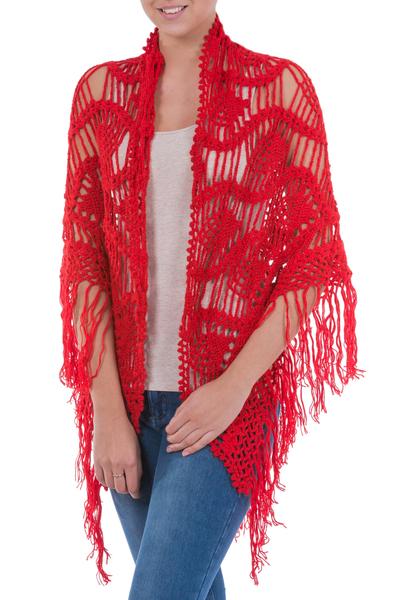 100% alpaca shawl, 'Bold Flirt' - 100% alpaca shawl
