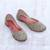 Silk jutti shoes, 'Taj Mahal Flowers' - Floral Hand-Embellished Silk Jutti Shoes from India thumbail