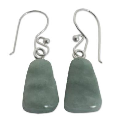 Hand Crafted Jade Dangle Earrings
