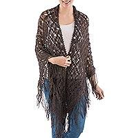 100% alpaca shawl, 'Stars Over Sechura'