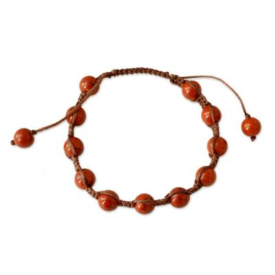 Artisan Crafted Jasper Shambhala-style Bracelet