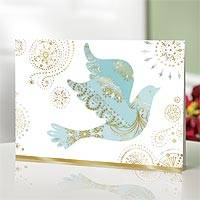 UNICEF holiday cards, 'Dove with Swirls' (set of 20) - Holiday cards, 'Dove with Swirls' (set of 20)