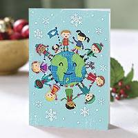 UNICEF holiday cards, 'Smiles Have No Borders' (set of 12) - UNICEF Holiday Cards with Kids and Pets (set of 12)
