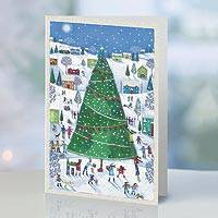 UNICEF holiday cards, 'Merry Moments' (set of 20) - UNICEF Christmas Tree Holiday Cards (set of 20)