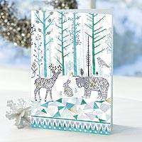 UNICEF holiday cards, 'Gathered Together' (set of 16) - Nature-Themed UNICEF Holiday Cardss (set of 16)