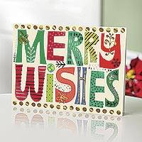UNICEF holiday cards, 'Wishes Upon Wishes' (set of 20) - UNICEF Holiday Cards (set of 20)