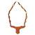 Wood pendant necklace, 'Horns of Victory' - Hand Crafted Wood Bead Necklace from Africa thumbail