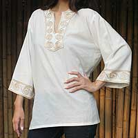 Cotton blouse, 'Cosmopolitan Cloud'