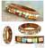 Wood bangle bracelet, 'Mumbai Mosaic' - Wood with Bone Inlay Indian Bangle Bracelet thumbail