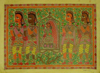 Madhubani Painting of Bridal Procession