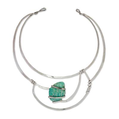 Amazonite collar necklace,