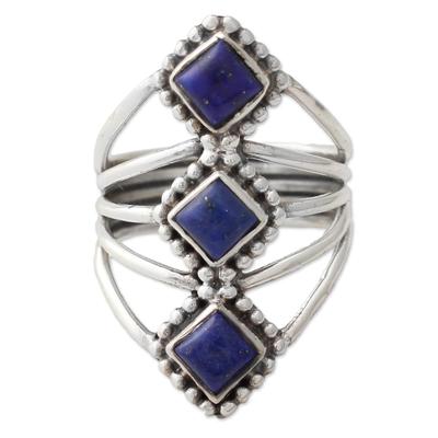 Lapis lazuli cocktail ring,