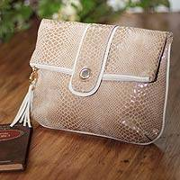 Leather clutch handbag,