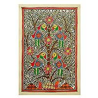Madhubani painting, 'Tree of Life' - Madhubani painting