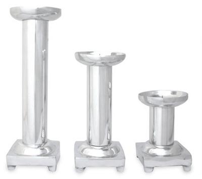 Aluminum candleholders (Set of 3)