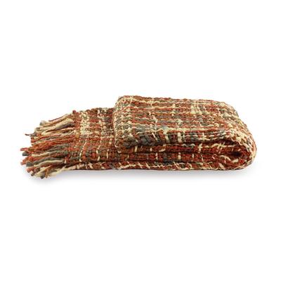 Throw, 'Joyous Earth' - Unique Woven Throw Blanket