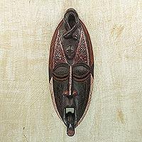 Ghanaian wood mask, 'Owo Snake'