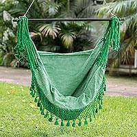 Cotton hammock swing, 'Take Me to the Forest'