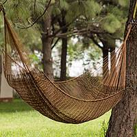 Hammock, 'Caribbean Mambo' (single) - Hand Made Mayan Hammock (Single)