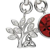 Sterling silver and Swarovski crystal pendant necklace, Tree of Life Trinity