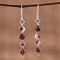 Quartz dangle earrings, 'Happy Delight'