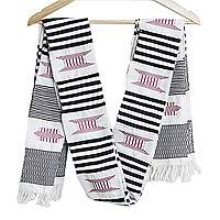 Kente cloth scarf, 'Seat of a King'