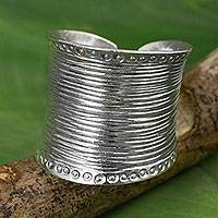 Sterling silver wrap ring, 'Hill Tribe Spectacular'