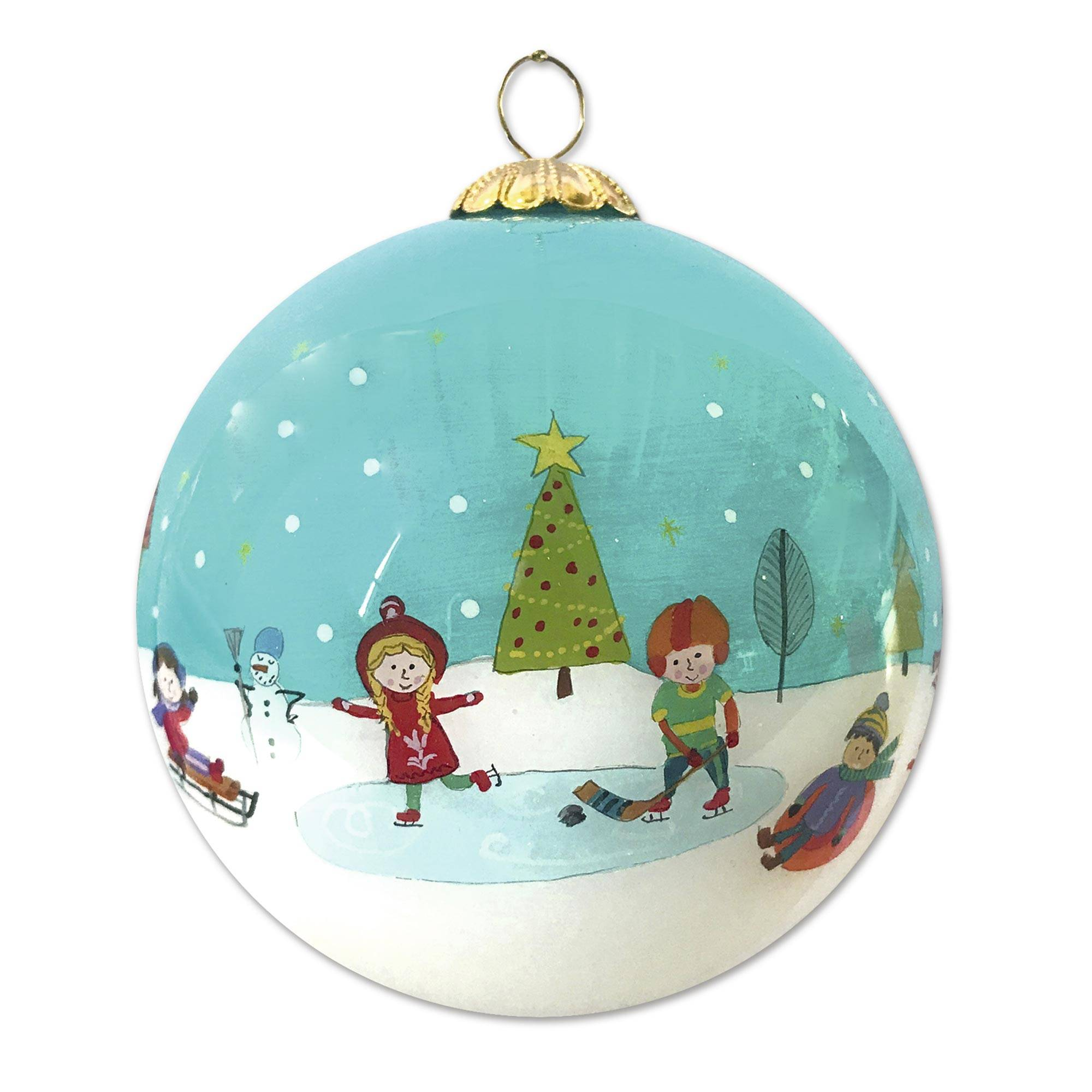 Kids 2020 Christmas Ornaments UNICEF Market   UNICEF 2020 Holiday Ornament   Kids In The Snow