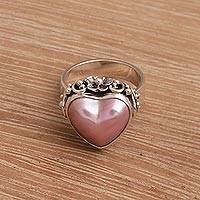 Cultured pearl cocktail ring, 'Stranger in Love'