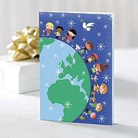 UNICEF holiday cards, 'Children Around the World' (set of 20) - UNICEF Boxed Holiday Cards (set of 20)