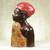 Wood sculpture, 'Profile of a Queen' - Carved Sese Wood Sculpture of an African Woman from Ghana (image 2b) thumbail