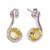 Citrine drop earrings, 'Golden Droplet' - Women's Citrine Earrings Sterling Silver Jewelry from India thumbail