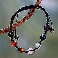 Multi-gemstone chakra bracelet, 'Well-Being' - Multi-gemstone chakra bracelet