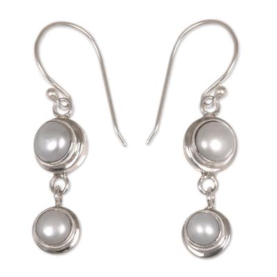 Pearl dangle earrings,